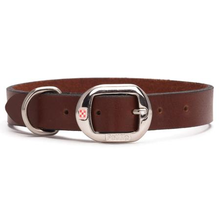 Petlife Plain Leather Dog Collar Brown Medium (45cm)