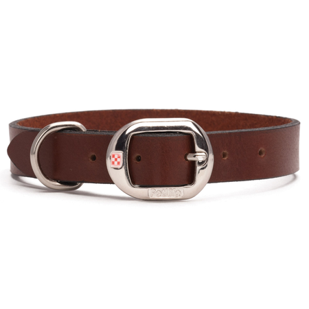 Petlife Plain Leather Dog Collar Brown X Small (30cm)