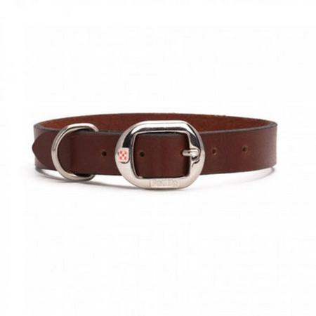Petlife Plain Leather Dog Collar Red Large (52.5cm)