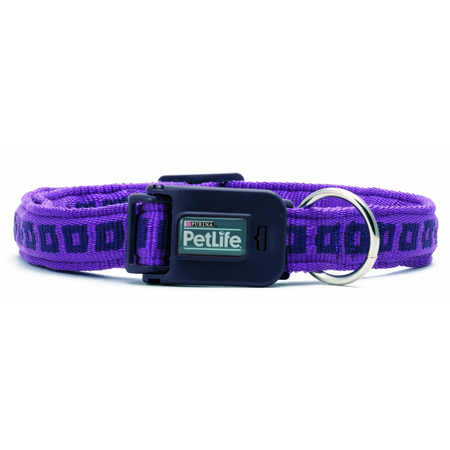 Petlife PowerGrip Adjustable Dog Collar Purple Large (45-75cm)