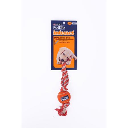 Petlife Sling Ball Dog Toy Orange Small