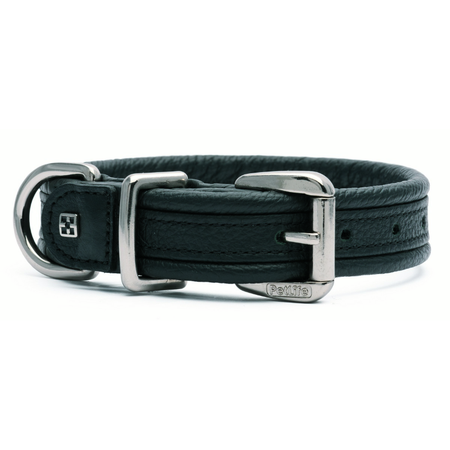 Petlife Special Edition Leather Dog Collar Black Small (37.5cm)