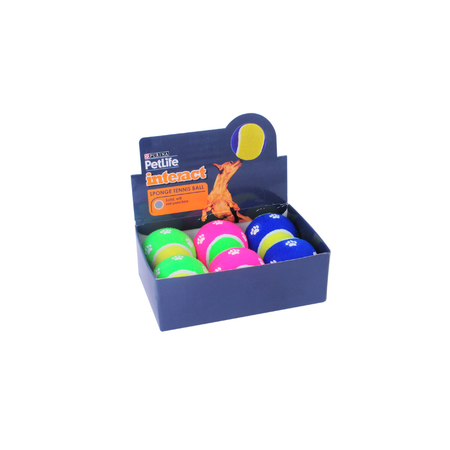Petlife Sponge Tennis Ball Dog Toy Large