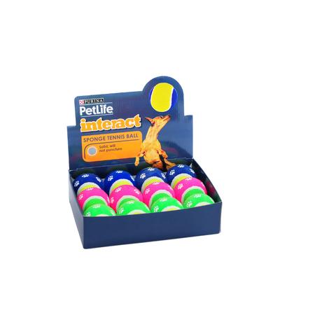 Petlife Sponge Tennis Ball Dog Toy Medium