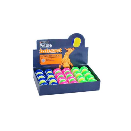 Petlife Sponge Tennis Ball Dog Toy Small