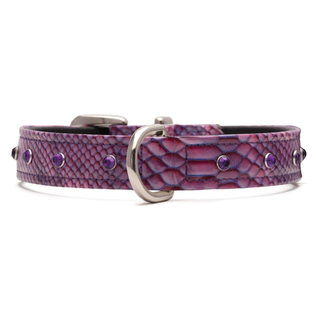 Petlife - Jewels - Leather Lined - Dog Collar
