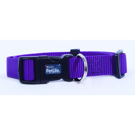 Petlife - Nylon Adjustable Dog Collar with Clip