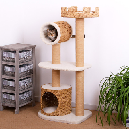 Petpals Cat Scratcher 2 Tier Condo with Tower
