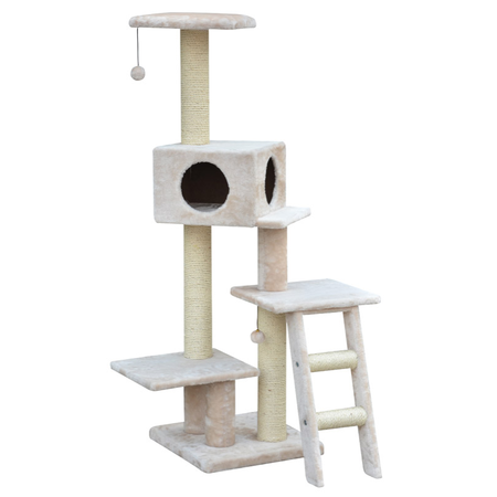 Petpals Cat Scratcher 3 Tier Condo with sisal & ladder