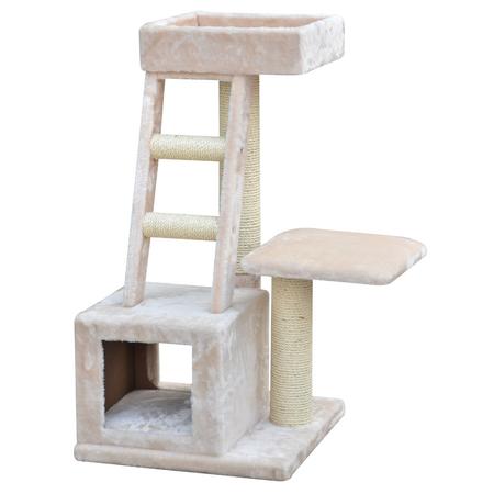 Petpals Cat Scratcher Condo with sisal & ladder Fleece