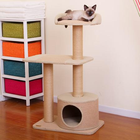 Petpals Cat Scratcher Condo with top Rest - Jute