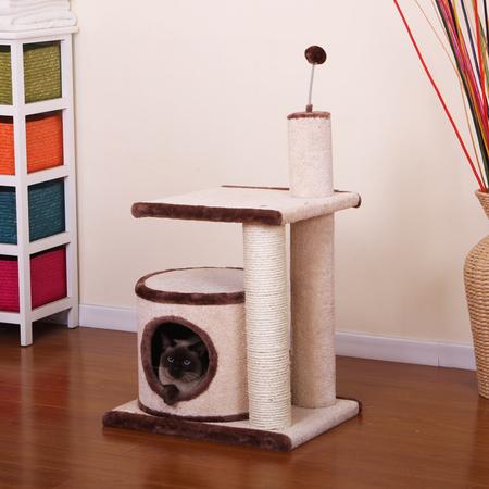 Petpals Cat Scratcher Sisal with cylinder & teaser