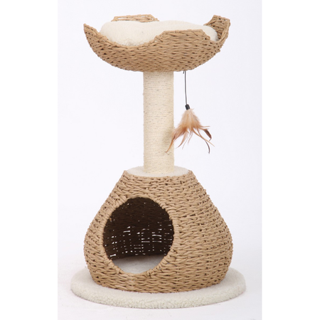Petpals Cat Scratcher Walk-Up Condo & Perch with Sisal Post