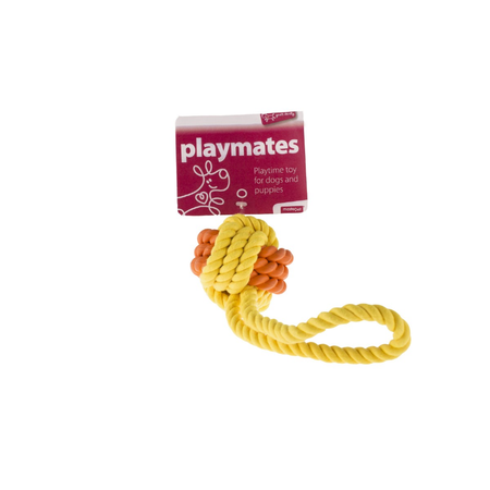 Playmates Rubber Rope Ball Tug 9.5cm