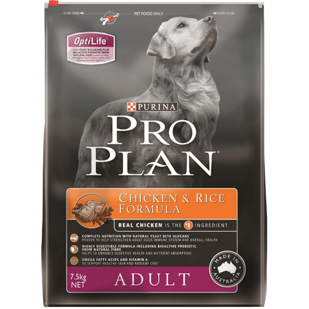 Pro Plan Adult Chicken and Rice Dry Dog Food  7.5kg
