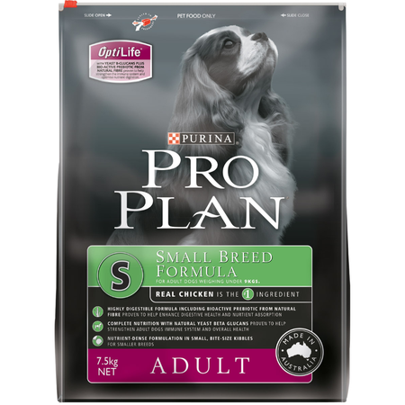 Pro Plan Adult Small Breed Chicken Dry Dog Food  7.5kg