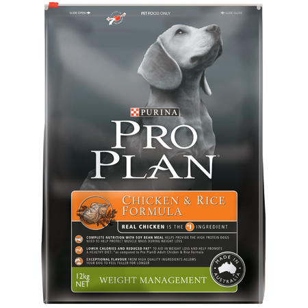 Pro Plan Adult Weight Management Chicken and Rice Dry Dog Food  12kg