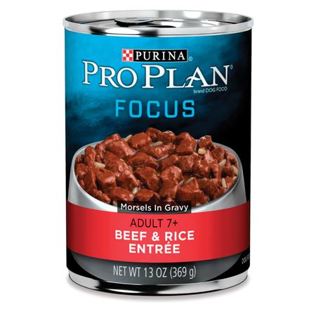 Pro Plan Focus Senior Dog Beef and Rice Entree 368gm