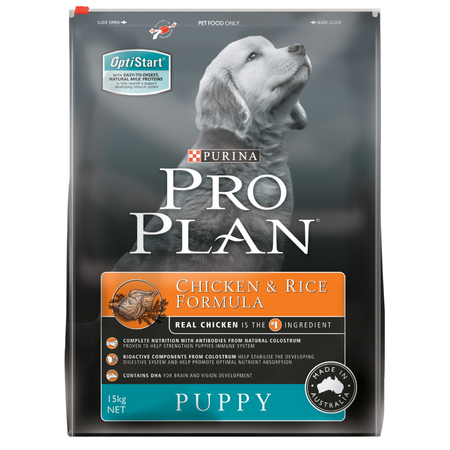 Pro Plan Puppy Chicken and Rice Dry Puppy Food  15kg