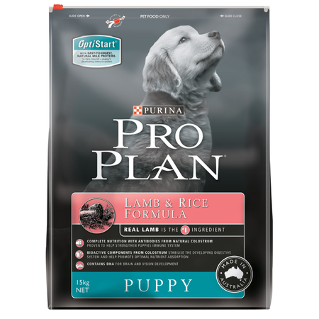 Pro Plan Puppy Lamb and Rice Dry Puppy Food  15kg