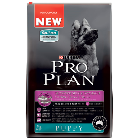 Pro Plan Puppy Sensitive Skin and Stomach Dry Puppy Food  3kg