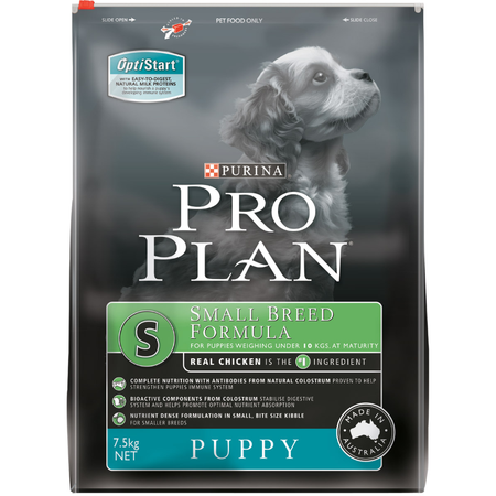 Pro Plan Puppy Small Breed Chicken and Rice Dry Puppy Food  7.5kg