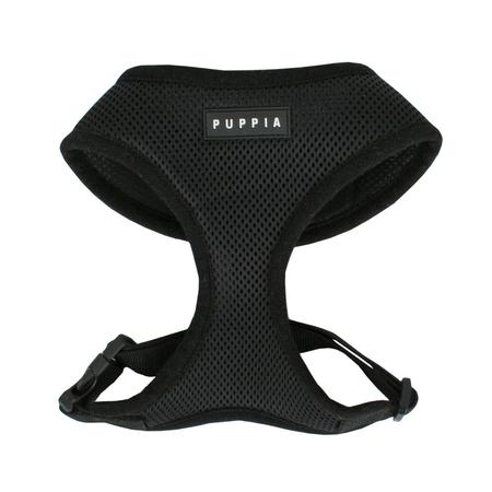 Puppia Soft Dog Harness Black X Small (22cm Neck Size)