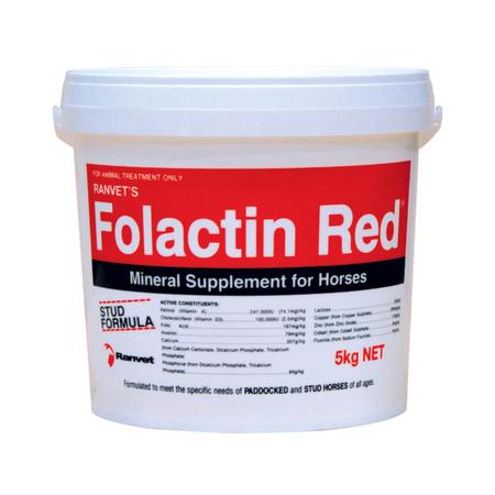 Ranvet Folactin Red Mineral Supplement for Horses  5kg