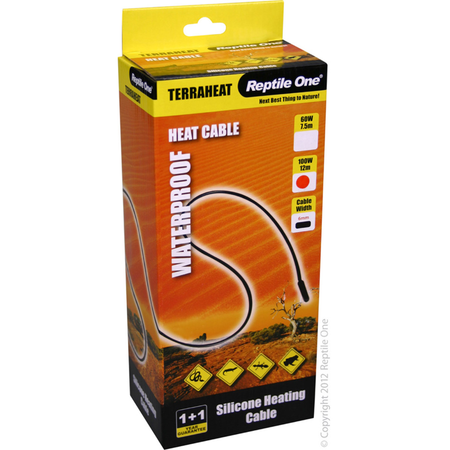 Reptile One Waterproof TerraHeat Cables - 100W 12 Meters
