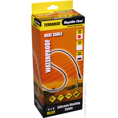 Reptile One Waterproof TerraHeat Cables - 60W 7.5 Meters
