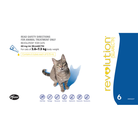 Revolution - Flea and Worming Treatment for Cats
