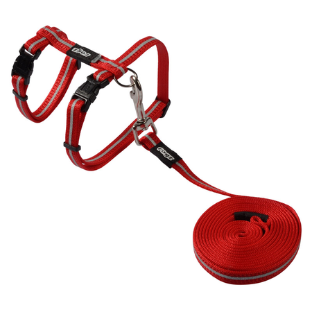 Rogz Alleycat Cat Harness and Lead Set Red Small