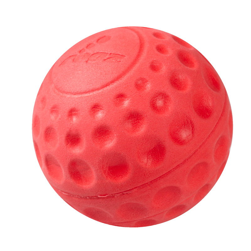 Rogz Asteroidz Ball Dog Toy Red Small (49mm)