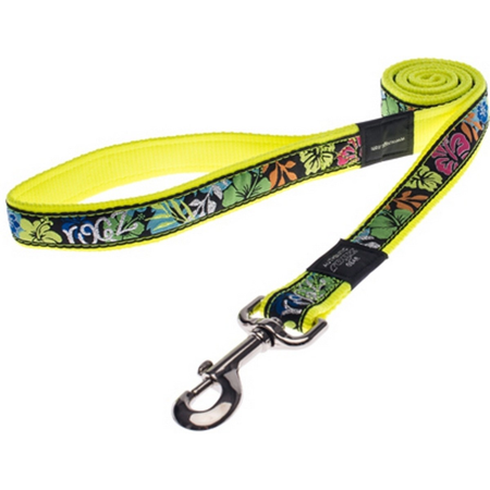 Rogz Dayglo Yellow Fixed Dog Lead Yellow Armed Response (25mm)