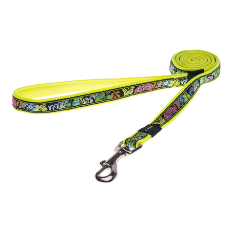 Rogz Dayglo Yellow Fixed Dog Lead Yellow Scooter (16mm)