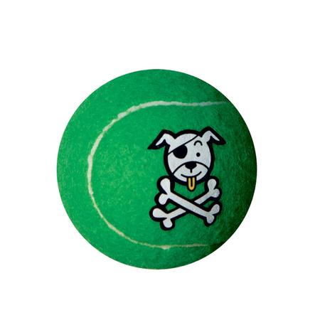 Rogz Electron Tennis Ball Dog Toy Green 6.5cm