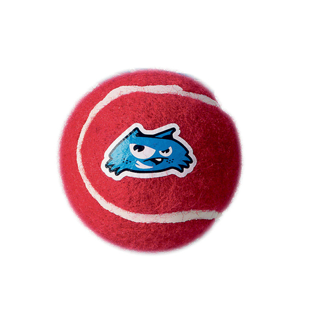 Rogz Electron Tennis Ball Dog Toy Red 6.5cm