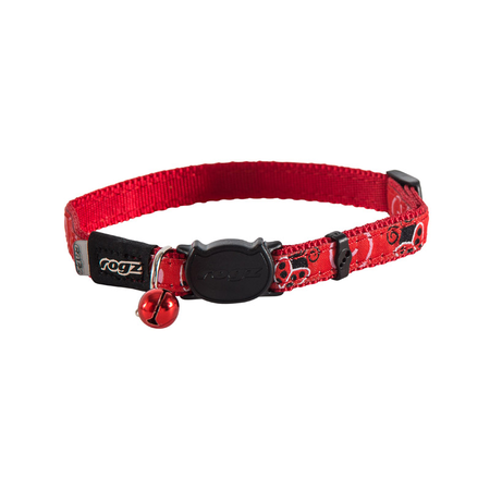 Rogz Fancycat Quick Release Cat Collar Red Small (11mm)