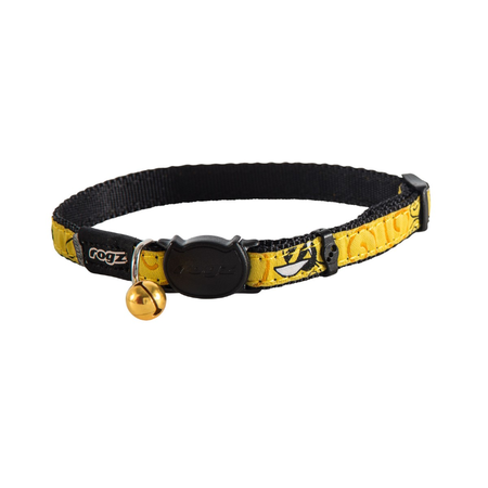 Rogz Fancycat Quick Release Cat Collar Yellow Small (11mm)