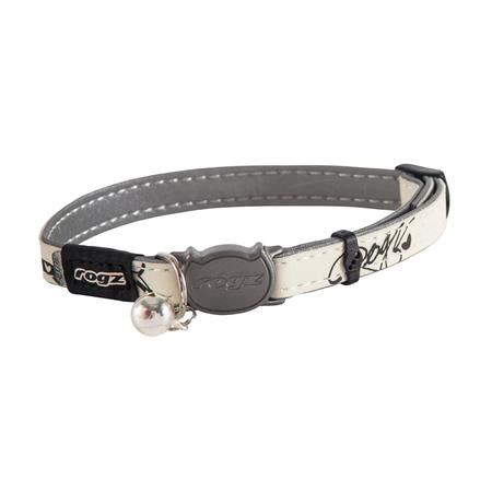 Rogz Glowcat Quick Release Cat Collar Black Small (11mm)