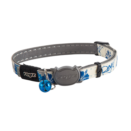Rogz Glowcat Quick Release Cat Collar Blue Small (11mm)