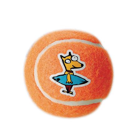 Rogz Gluon Tennis Ball Dog Toy Orange 5cm
