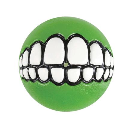 Rogz Grinz Ball Dog Toy Green 64mm