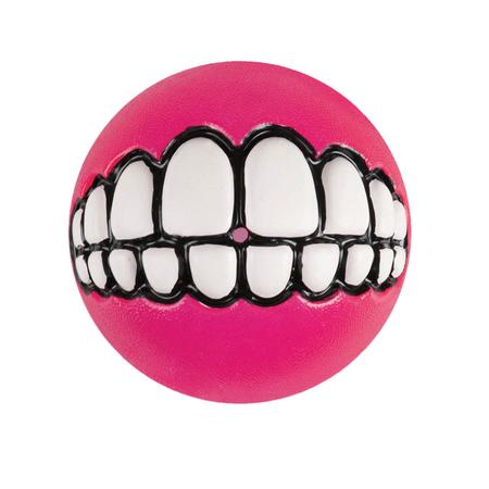 Rogz Grinz Ball Dog Toy Pink 64mm