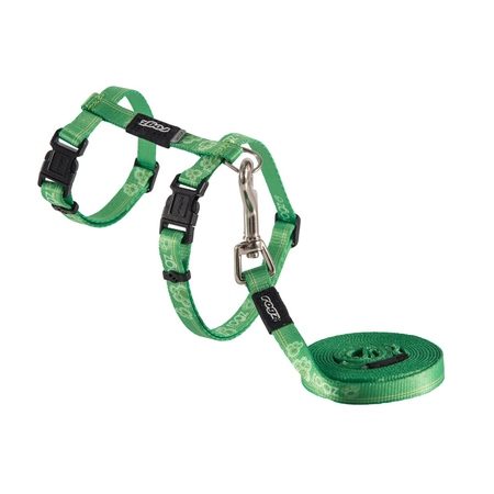 Rogz Kiddycat Cat Harness and Lead Set Green Small