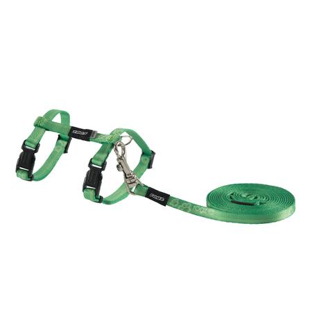 Rogz Kiddycat Cat Harness and Lead Set Green X Small