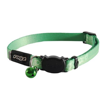 Rogz Kiddycat Quick Release Cat Collar Green Small (11mm)