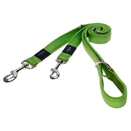 Rogz Reflective, Adjustable, Multi Purpose Dog Lead Green Snake (16mm)