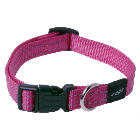 Rogz Reflective Nylon Dog Collar Pink Snake (26-40cm)