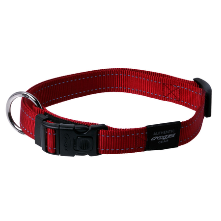 Rogz Reflective Nylon Dog Collar Red Lumberjack (43-70cm)